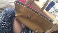 Brown leather Tommy Hilfiger tote bag  Winnipeg, R3B 3P2