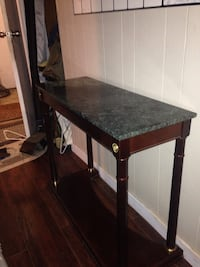 Bombay mahogany and marble side table Nanaimo, V9T 2K5