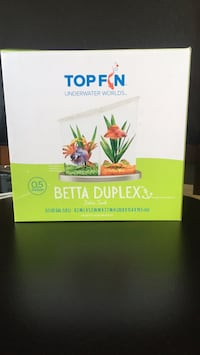 Top Fin 0.5 gallon fish tank duplex. New in box. New Westminster, V3M 2P8
