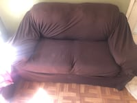 Couch and loveseat with slipcovers Pearl