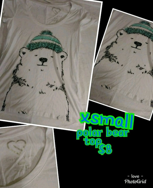 XS Polar Bear top