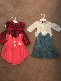 gir's four assorted dresses