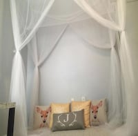 Bedroom canopy mosquito net: White