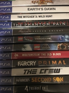 Stack of PS4 games