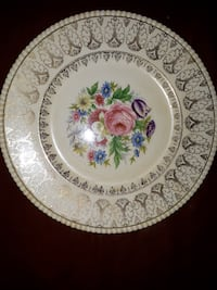 """Simpsons Pottery Solian Ware (777 SIM26) 10 3/4"""" DINNER PLATE Crazed"""