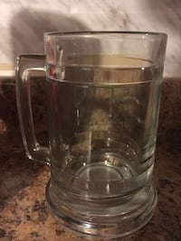 4 thick glass beer mugs  Oakville, L6L 4W3