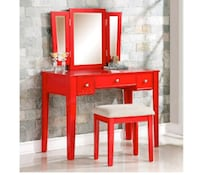 red and white wooden vanity table Las Vegas, 89104