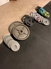 Olympic weights for weight bench or exercise machine