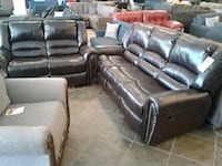 Real Leather Recliner Sofa & Love Seat on sale  Phoenix, 85018