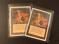 Magic The Gathering Demonic Tutor Card X2 from Revised Edition  Ajax, L1T 1T8
