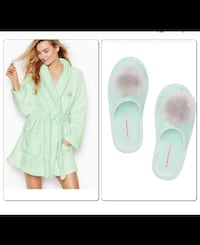 Victoria's Secret Robe and matching slippers