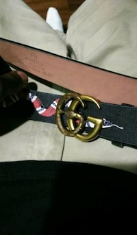 black and red leather belt Dallas, 75214