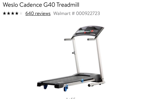 Weslo Cadence G40 Treadmill Great Working Condition No Where To Store