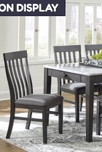 SPECIAL] Luvoni White/Charcoal Dining Set table chairs  Houston, 77036
