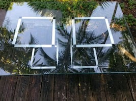 Large Thick Glass Table and base