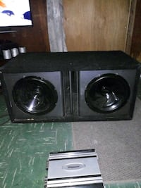 Bass box 12 inch with amp