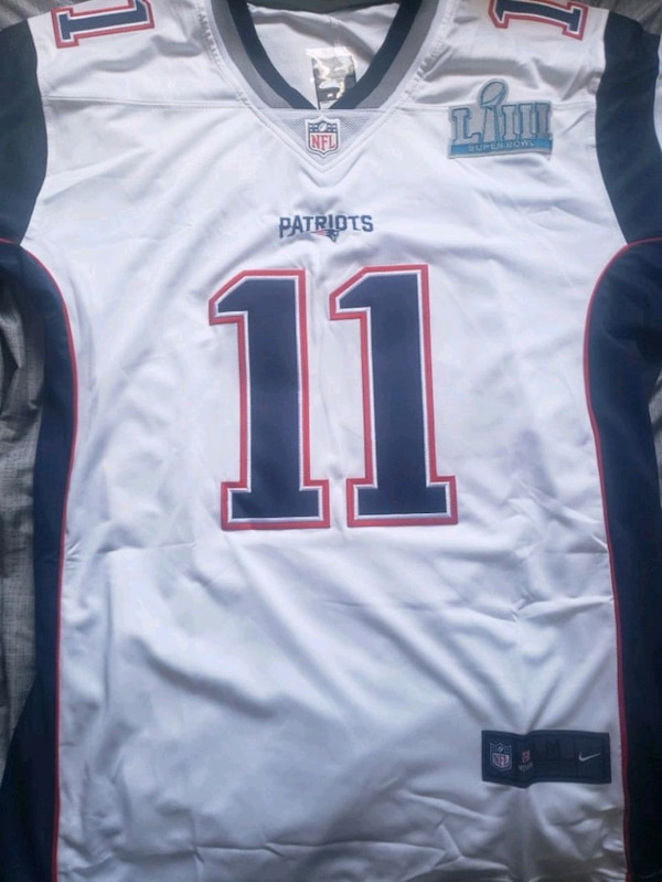 sports shoes d37f4 63737 Julian Edelman Jersey with super bowl patch