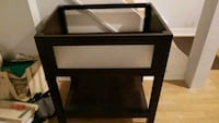 black wooden framed glass top side table Pickering, L1V 2S3