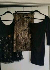 Black and Gold Dresses $8 each