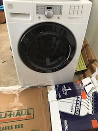 white front-load clothes washer Atlanta, 30329
