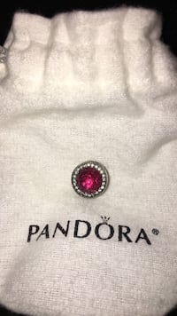 silver-colored pandora charm with red gemstone Mississauga, L5H 3S4