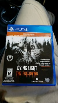 Dying Light The Following PS4 game case Coquitlam