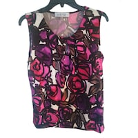 Floral Top Blouse M Burnaby