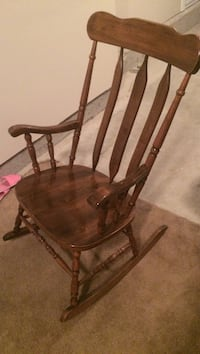 brown wooden windsor rocking chair Langley, V3A 3X2
