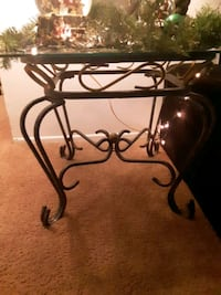 Set of two solid steel end tables