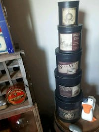 Set of 5 cardboard decor canisters  Lower Sackville