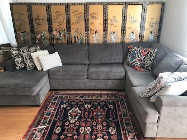 Ashley's furniture sectional couch with chaise
