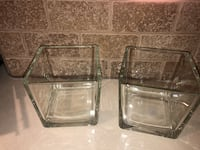 "Vase - clear (5.5"" H x 5.5"" W) $5 each.  Vaughan, L6A 1K3"