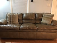 One year old brown leather Couch Nashville, 37211