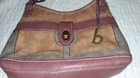 BOC Concepts green tan and brown suede bag AVON
