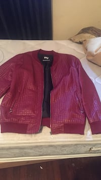red leather zip-up jacket Chattanooga, 37406