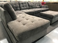 gray fabric sectional sofa with ottoman Fresno, 93728