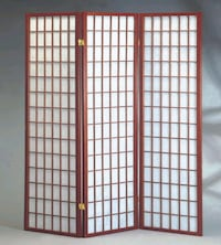 Brand New 3 Panel Cherry Wood Room Divider  Silver Spring
