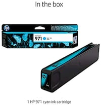 HP 971 PageWide Ink Cartridge Cyan CN622AM NEW  (up to 2,500 pages)  Salem