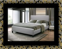 Grey platform bed with mattress and box Bladensburg, 20710