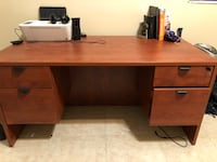 """Solid 4 drawer desk, excellent condition 60"""" long, 30"""" deep, 29 1/2 height Safety Harbor, 34695"""