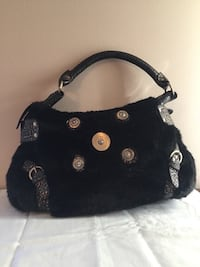 Black fur purse Mississauga
