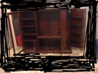 Sauder Brown wooden TV hutch Hagerhill, 41222