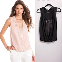 Black Marciano SEQUIN Tank built in blouse North York, M3K 2C1