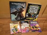 assorted game guide books
