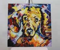 colorful abstract dog painting Vaudreuil-Dorion