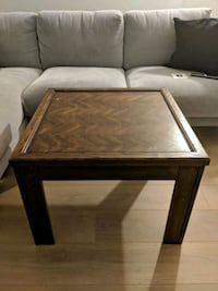 square brown wooden coffee table 3729 km