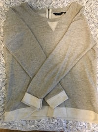 Gray and white scoop-neck sweater Toronto, M6A 1M9
