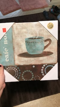 Coffee canvas decor never used. 12x12  South Fayette, 15017
