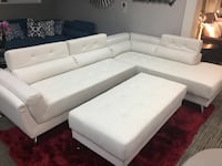 Sectional with adjustable headrest. Brand new. Ottoman $150 extra. Dallas, 75204