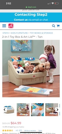 2-in-1 Toy Box & Art Lid Herndon, 20171